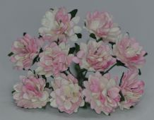 LIGHT PINK WHITE ASTER Daisy (1.3 cm) Mulberry Paper Flowers